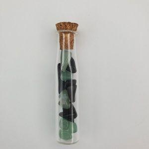 AdoreStore Jewelry - Cylinder Vial Tourmaline Amethyst Rose